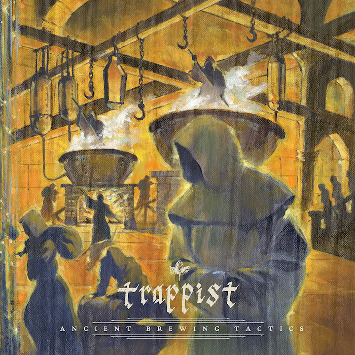 Photo of Trappist's new album cover Ancient Brewing Tactics